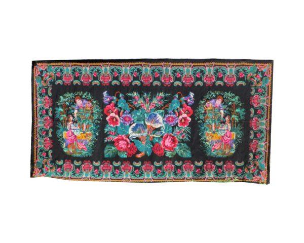 tapis kilim noir et blanc kilim salon floral rug large kilim rugs