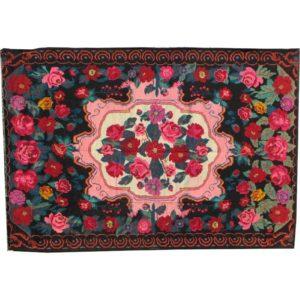 "Pink kilim rug 197cm x 286cm/6'46"" x 9'38"""