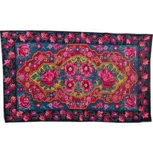 "Pink kilim rug 191cm x 319cm/6'26"" x 10'46"""