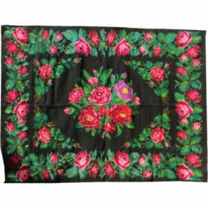 "Red kilim rug 186cm x 251cm/6'10″x8'23"""