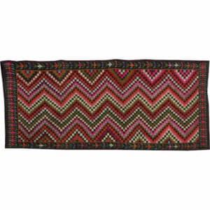 """Vintage kilim rugs 142cm x 326cm/4'65″x10'69"""""""