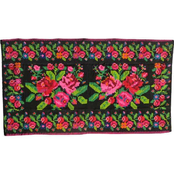 Tapis kilim floral rug N293 tapis bohème