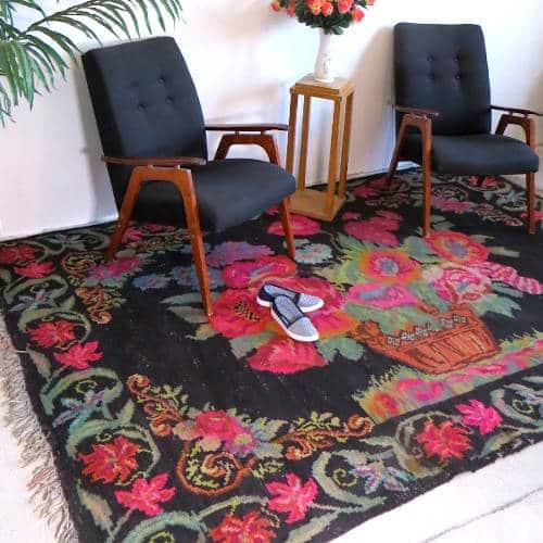 kilim chambre Tapis kilim kilim rug with roses N150