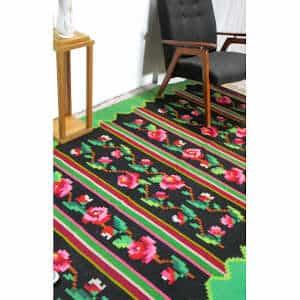 """Floral rug 156cm x 288cm/5'11″x9'44"""""""