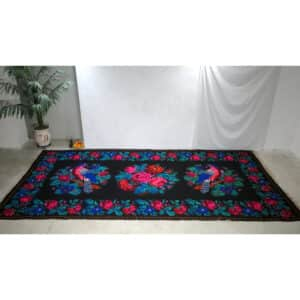 Tapis kilim bleu 201cm x 405cm